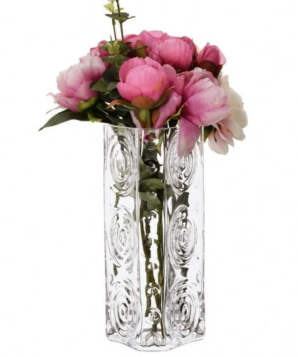 Glass Swirls Triangle Vase 25cm